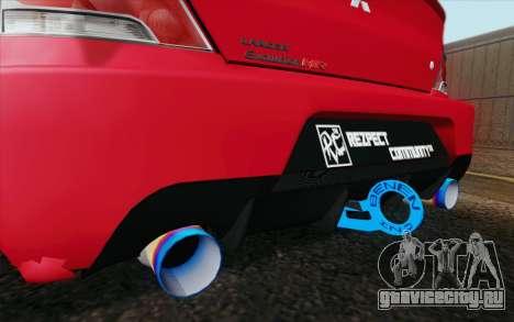 Mitsubishi Lancer MR Edition для GTA San Andreas вид сзади слева
