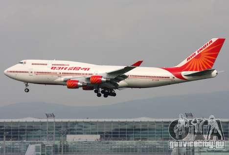 Boeing 747 Air India для GTA San Andreas вид сверху