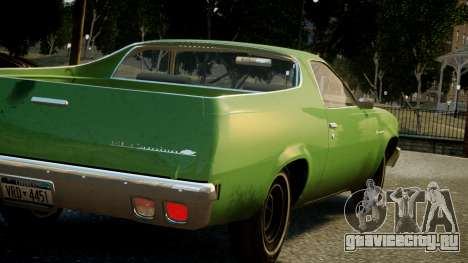 Chevrolet El Camino 1973 Old для GTA 4 вид снизу