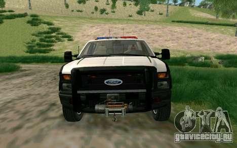 Ford F-250 Bone County Ultimate Response для GTA San Andreas вид слева