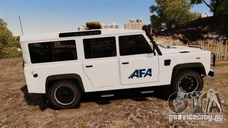 Land Rover Defender AFA [ELS] для GTA 4 вид слева