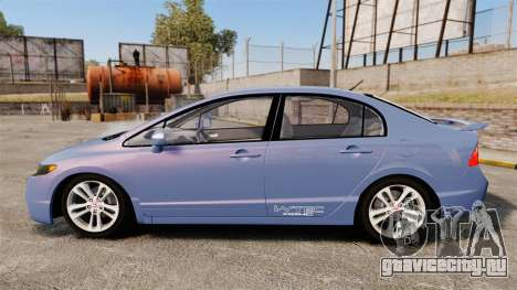 Honda Civic Si 2008 для GTA 4 вид слева