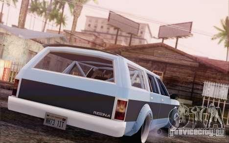 Regina Widebody V8 для GTA San Andreas вид слева