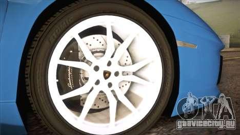 Lamborghini Aventador Roadster для GTA San Andreas вид справа