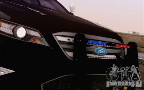 Ford Taurus Police для GTA San Andreas вид изнутри