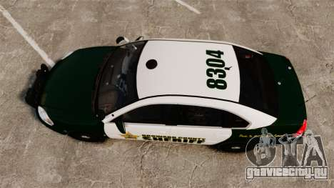 Chevrolet Impala 2010 Broward Sheriff [ELS] для GTA 4 вид справа