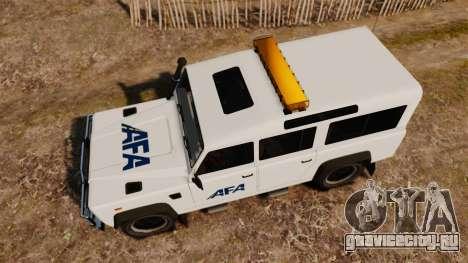 Land Rover Defender AFA [ELS] для GTA 4 вид справа
