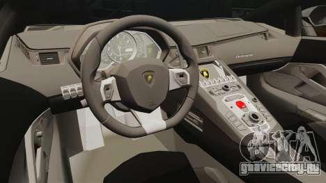 Lamborghini Aventador LP700-4 2012 [EPM] v1.1 для GTA 4 вид изнутри