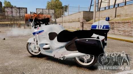 BMW R1150RT Police nationale [ELS] v2.0 для GTA 4 вид слева