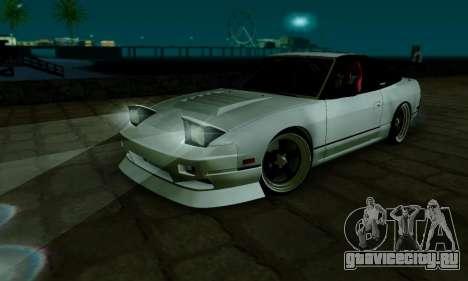 Nissan SX 240 для GTA San Andreas вид изнутри
