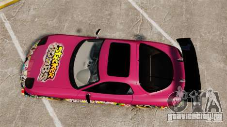Mazda RX-7 D1 Sticker Bomb для GTA 4 вид справа