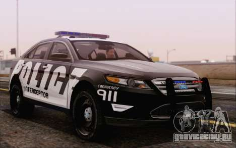 Ford Taurus Police для GTA San Andreas вид справа