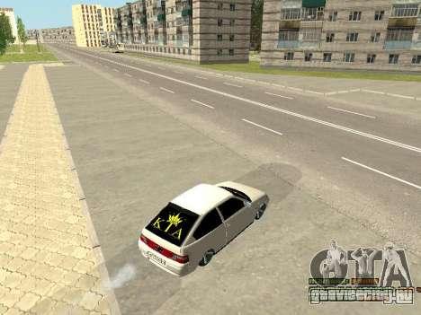ВАЗ 21123 для GTA San Andreas вид изнутри