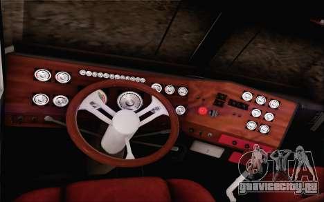 Offroad Firetruck для GTA San Andreas вид изнутри