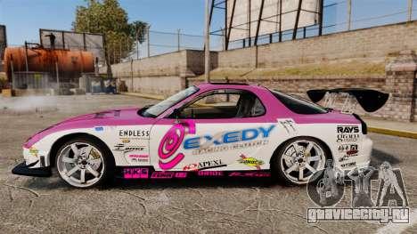 Mazda RX-7 D1 EXEDY для GTA 4 вид слева