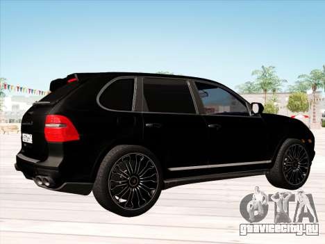 Porsche Cayenne Turbo S 2010 Stock для GTA San Andreas вид сзади