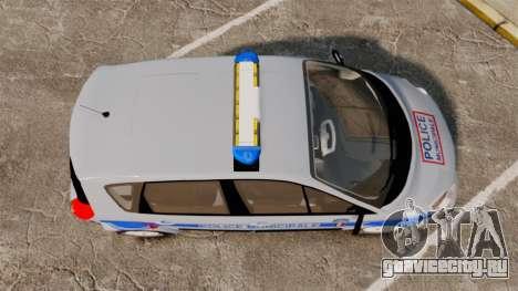 Renault Scenic Police Municipale [ELS] для GTA 4 вид справа