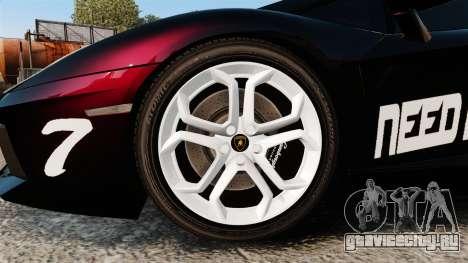 Lamborghini Aventador LP700-4 2012 [EPM] NFS для GTA 4 вид сзади