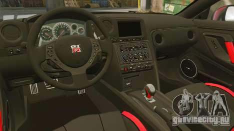 Nissan GT-R Black Edition 2012 Drive для GTA 4 вид изнутри
