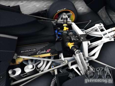 Pagani Zonda R 2009 для GTA San Andreas вид изнутри