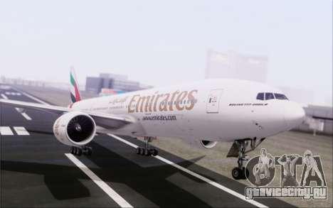 Emirates Airlines 777-200 для GTA San Andreas вид сбоку