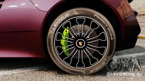Porsche 918 Spyder для GTA 4 вид сзади