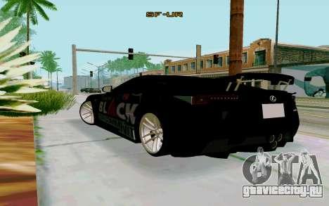 Lexus LFA Street Edition Djarum Black для GTA San Andreas вид слева