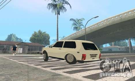 ВАЗ 21214 Avtosh для GTA San Andreas вид сзади слева