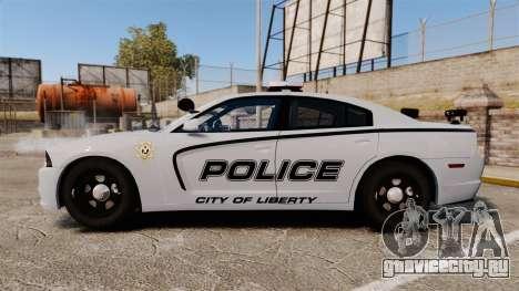 Dodge Charger 2011 LCPD [ELS] для GTA 4 вид слева
