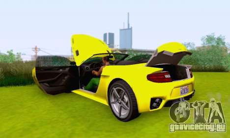 GTA V Rapid GT Cabrio для GTA San Andreas двигатель
