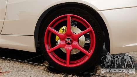 Nissan Skyline GT-R R34 V-Spec II для GTA 4 вид сзади