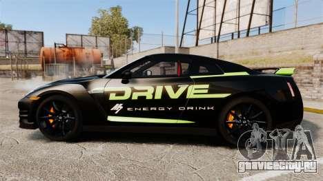 Nissan GT-R Black Edition 2012 Drive для GTA 4 вид слева