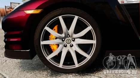 Nissan GT-R Black Edition 2012 Drive для GTA 4 вид сзади