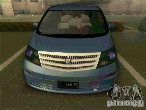 Toyota Alphard для GTA San Andreas вид справа