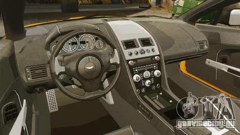 Aston Martin V12 Vantage S 2013 для GTA 4 вид изнутри