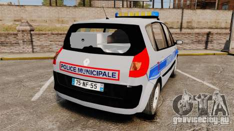 Renault Scenic Police Municipale [ELS] для GTA 4 вид сзади слева
