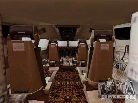 Boeing 747 Air India для GTA San Andreas вид изнутри