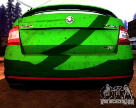Skoda Octavia A7 RS для GTA San Andreas вид сверху