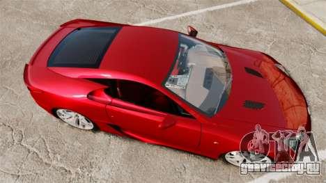 Lexus LF-A 2010 v2.0 [EPM] Final Version для GTA 4 вид справа