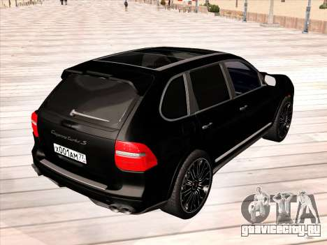 Porsche Cayenne Turbo S 2010 Stock для GTA San Andreas вид сбоку