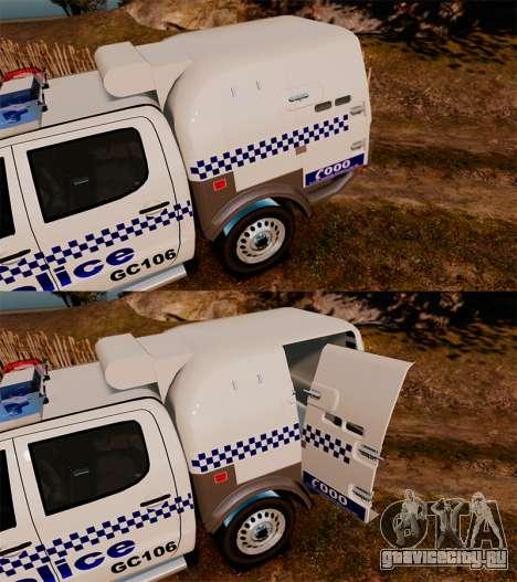 Toyota Hilux Police Western Australia для GTA 4 вид сбоку