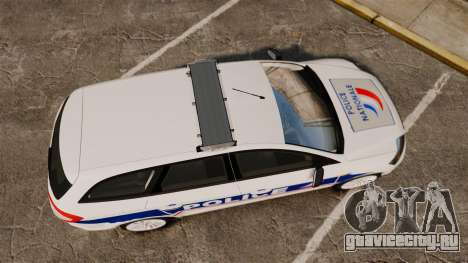 Ford Mondeo IV Wagon Police Nationale [ELS] для GTA 4 вид справа