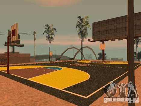 Новая баскетбольная площадка для GTA San Andreas седьмой скриншот