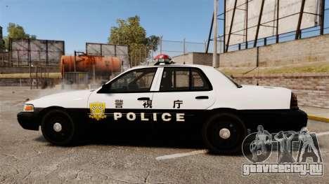 Ford Crown Victoria Japanese Police [ELS] для GTA 4 вид слева