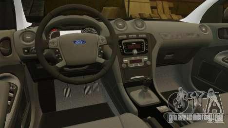 Ford Mondeo Croatian Police [ELS] для GTA 4 вид сверху