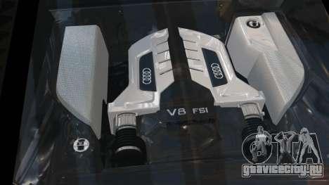 Audi R8 v1.1 для GTA 4 вид сбоку