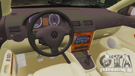 Volkswagen Bora 1.8T Camel для GTA 4 вид изнутри