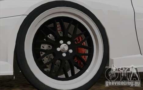 Toyota Supra TRD для GTA San Andreas вид сзади слева