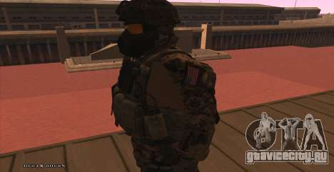 Global Defense Initiative Soldier для GTA San Andreas шестой скриншот