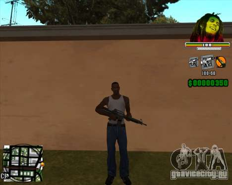 C-HUD Bob Marley для GTA San Andreas